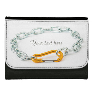 Chain Links and Chain Clip Gold and Silver Colors Wallets
