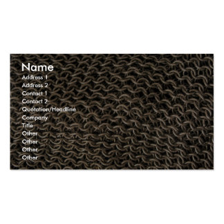 Chain mail business card templates