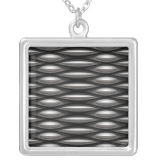 Chain Mail Mesh Square Pendant Necklace