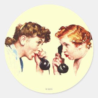 Chain of Gossip Classic Round Sticker