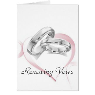 Chain of Hearts Renewing Vows Invitation Card