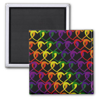 chain of hearts square magnet