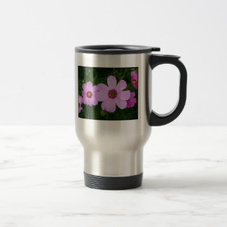 Chain of Pink Cosmos Stainless Steel Travel Mug