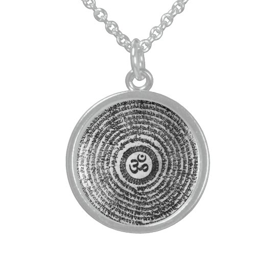 chain, om mani padme hum, mantra sterling silver