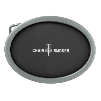 Chain Smoker Oval Belt Buckle