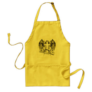 CHAINED AND WINGED CROSS PRINT APRONS