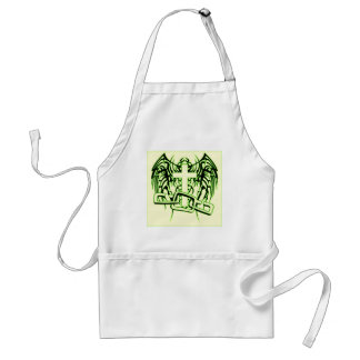 CHAINED AND WINGED CROSS PRINT STANDARD APRON