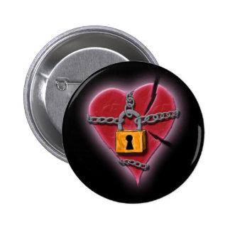 Chained & Broken Heart Badge