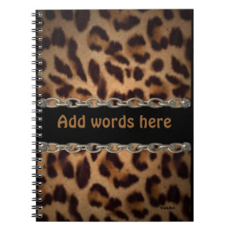 Chained Leopard notebook