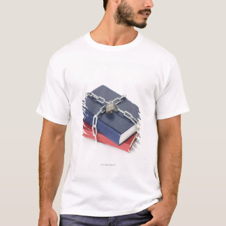 Chained stack of books T-Shirt