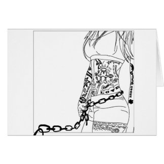 Chained to a bad girl card