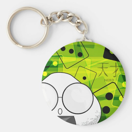 Chaining Dice Basic Round Button Key Ring