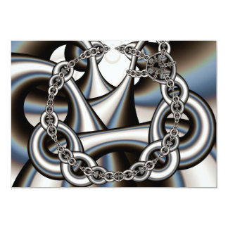 chains-434021 DIGITAL ART GANGSTER PRISON CHAINED 13 Cm X 18 Cm Invitation Card