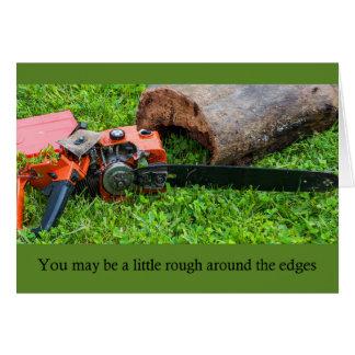 Chainsaw Birthday Card