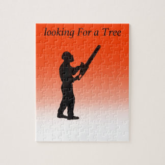 Chainsaw Tree Surgeon Jigsaw Puzzle