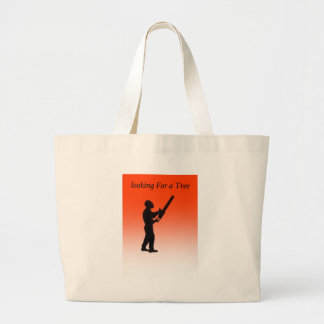 Chainsaw Tree Surgeon Large Tote Bag