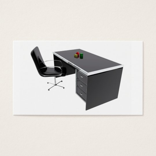 Chair and desk table office business card