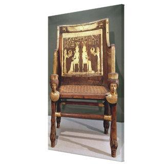 Chair belonging to Princess Satamun Canvas Print