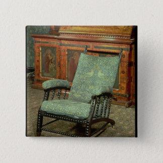 Chair by William Morris 15 Cm Square Badge