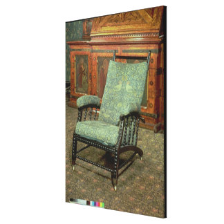 Chair by William Morris Canvas Print