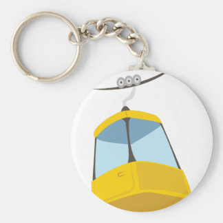 Chair Lift Basic Round Button Key Ring