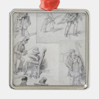 Chair menders on the streets of London, 1820-30 Christmas Ornament