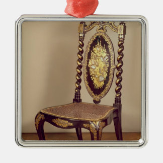Chair, mid 19th century Silver-Colored square decoration