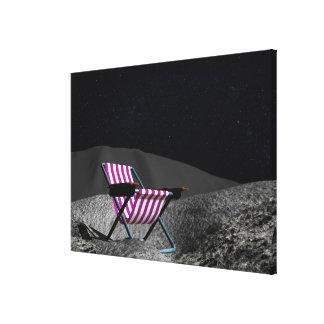 Chair on Moon Canvas Print
