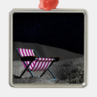 Chair on Moon Christmas Ornament
