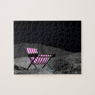Chair on Moon Jigsaw Puzzle