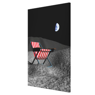 Chair on the Moon Canvas Print