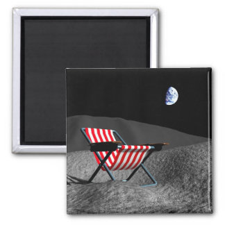 Chair on the Moon Magnet