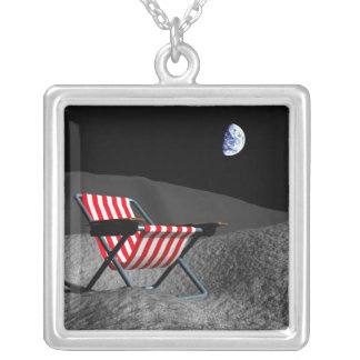Chair on the Moon Silver Plated Necklace