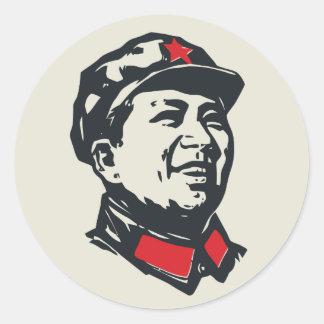 Chairman Mao Portrait Round Sticker