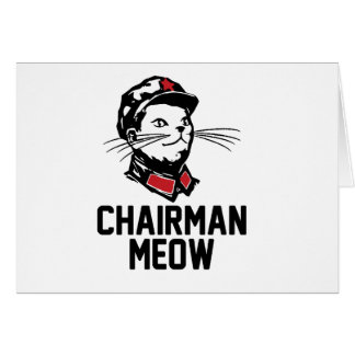 Chairman Meow (Mao) Design Greeting Cards