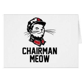 Chairman Meow (Mao) Design Card