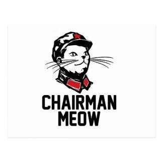 Chairman Meow (Mao) Design Postcard