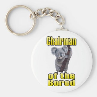 Chairman of the Bored Basic Round Button Key Ring