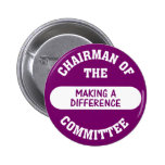 Chairman of the Making a Difference Committee Badges