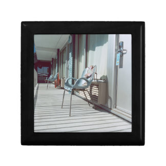 Chairs Outside Beach Hotel Rooms Small Square Gift Box