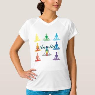 Chakra 7 colors aura chi prana yogi yoga lotus t shirts