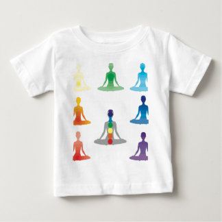 Chakra 7 colors aura chi prana yogi yoga lotus shirt