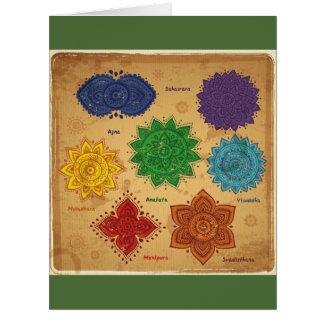Chakra,Ajna,muladhara,anahata,manipura,svadisthara Big Greeting Card