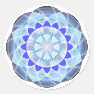 Chakra Button - Vishuddha Round Sticker