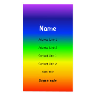 Chakra Colors Rainbow Business Card
