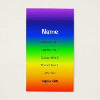 Chakra Colors Rainbow Business Card