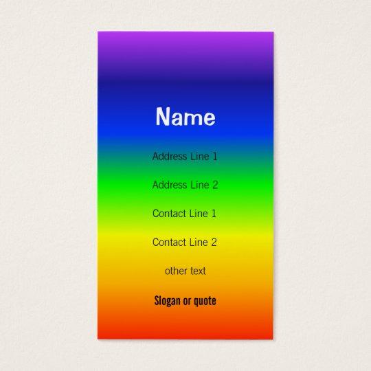 Chakra Colours Rainbow Business Card