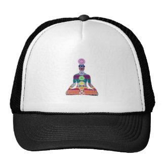 CHAKRA diagram Yoga Meditation Peace NVN630 FUN Cap