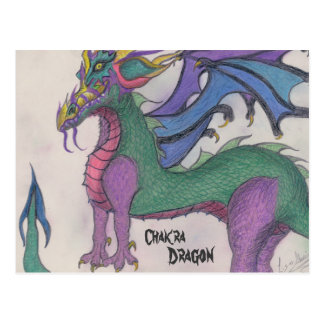 Chakra Dragon Postcard