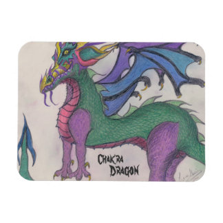 Chakra Dragon Rectangular Photo Magnet